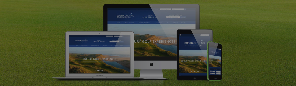 Scotia Golfing - Web Design Perth