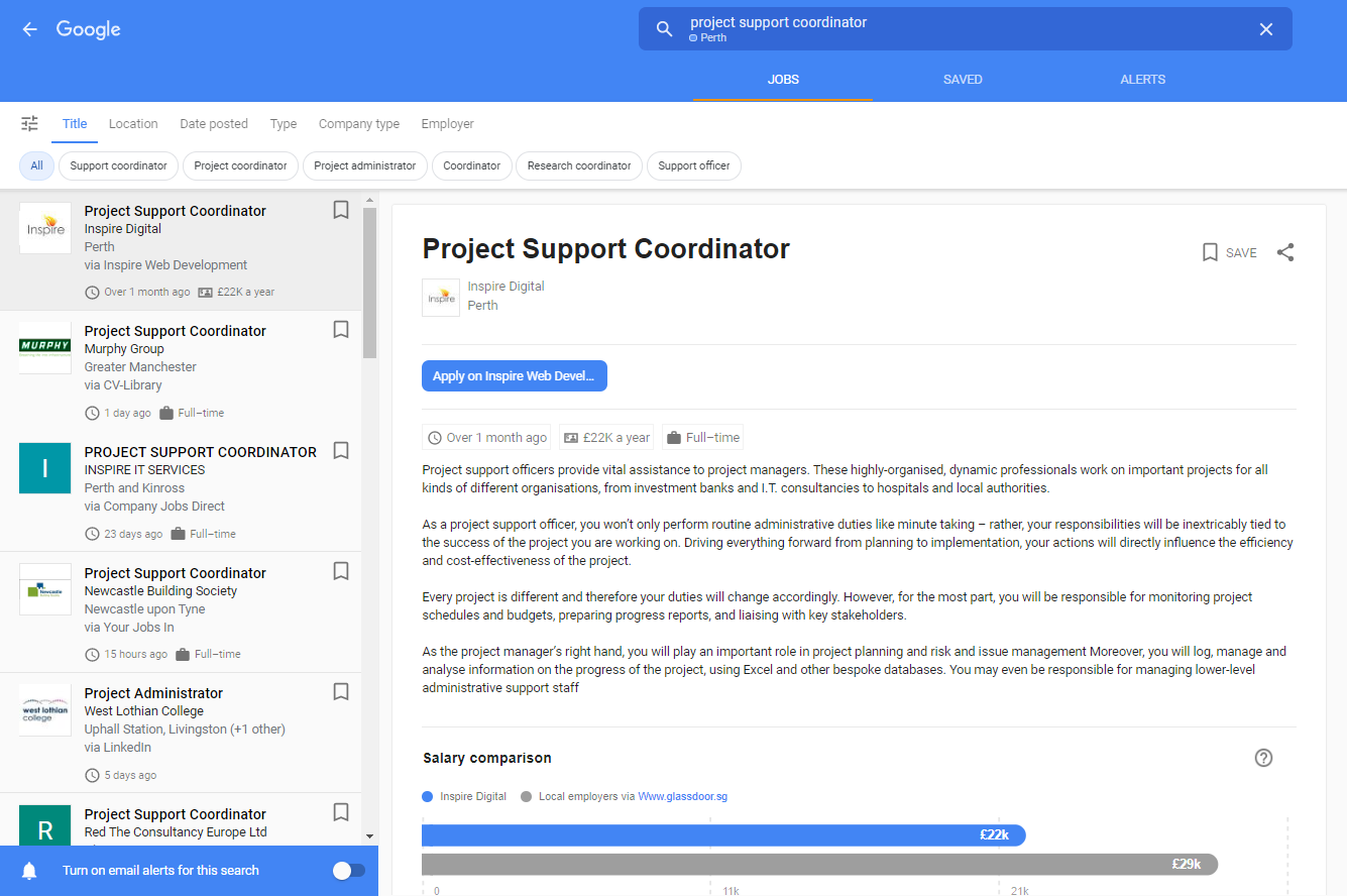 Project support example
