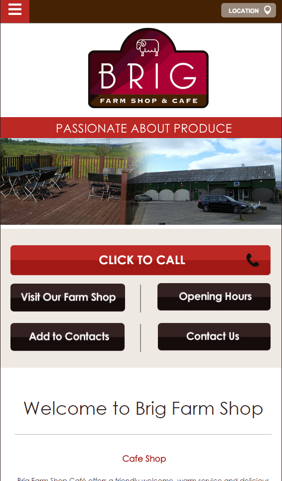 BRIG farm shop | Web Design | Perth